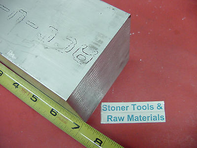 "3"" X 3"" ALUMINUM 6061 SQUARE SOLID BAR 7"" long T6511 Flat New Mill Stock"