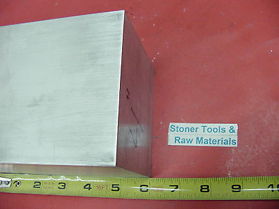 "4"" X 4"" ALUMINUM 6061 SQUARE SOLID BAR 6"" long T6511 Flat New Mill Stock"