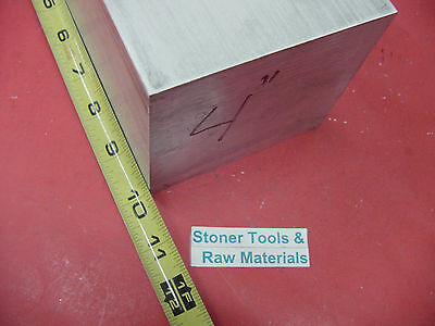 "4"" X 4"" ALUMINUM 6061 SQUARE SOLID BAR 10"" long T6511 Flat New Mill Stock"