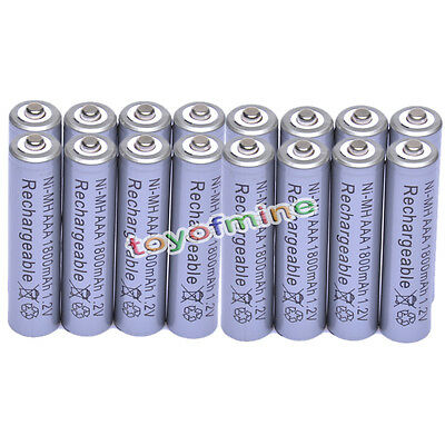 16x AAA 1800mAh 1.2V Ni-MH Rechargeable battery 3A Grey Cell for MP3 RC Toys