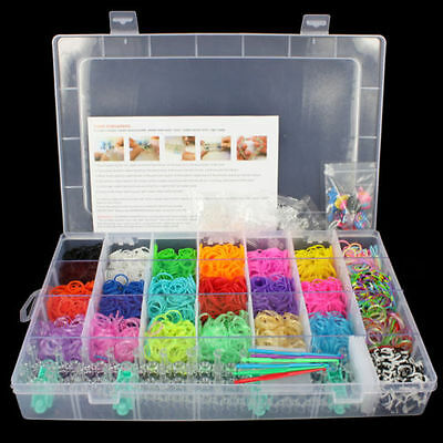 3000 Rainbow Loom Kit Bands Friendship Bracelet Making Set S Clip Kids New Girls