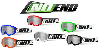 Masque cross NO END Lunette moto Mask MX Goggles optic Motocross Enduro casque