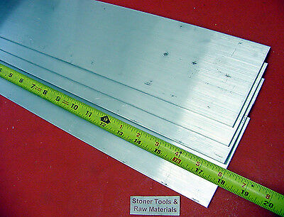 "4 Pieces 1/8"" X 3"" ALUMINUM 6061 FLAT BAR 18"" long .125"" Plate New Mill Stock"