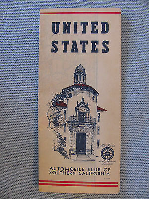 UNITED STATES ROAD MAP AUTOMOBILE CLUB OF SOUTHERN CALIFORNIA