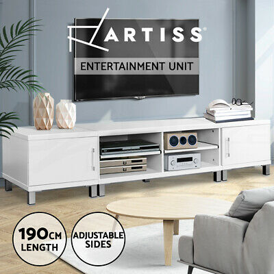 TV Stand Entertainment Unit 190CM Lowline Cabinet Drawer Plasma LCD LED White