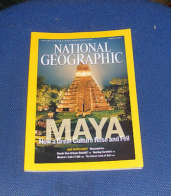 National Geographic Magazine August 2007 - New Orleans/maya Rise And Fall/ants