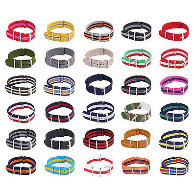 New Army Military Fiber Watchband Woven Nylon Watch Straps Wristwatch Bands18mm