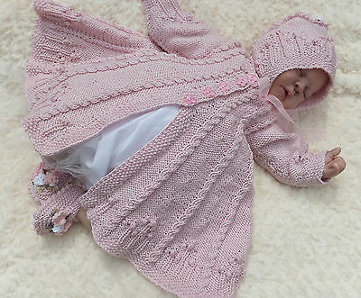 Knitting Pattern To Make Milly's Secret Garden, Coat Set For Baby Or Reborn Doll