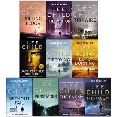 Jack Reacher Series (1 & 2) Lee Child Collection Echo Burning 10 Books Set NEW