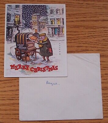 Fine Signed Christmas Card And Envelope Prince Charles Son Of Qeii