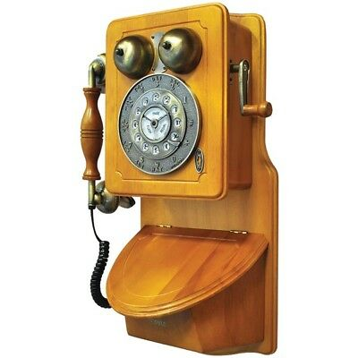 New Pyle PRT45 Retro Style Home Country Wall Phone W/ Handcrafted Classic Design