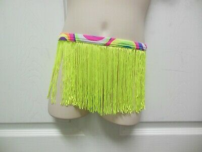 NWOT Dance Jazz Tap Fringe skirt chartreuse Small child 6 inches