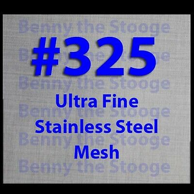 """Woven Wire Mesh Stainless Steel 325 Mesh 6""""x6"""" FREE INTERNATIONAL SHIPPING!"""