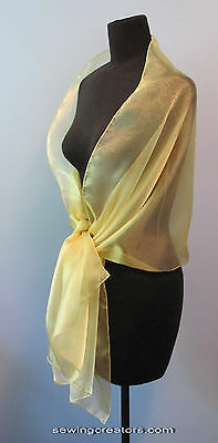 Sheer Gold Evening Wrap Bridal Shawl Formal Prom By SewingCreators