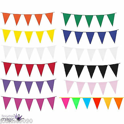 New 10m Long Giant Flag Bunting Garland Pennant Garden Party Fete Pub Decoration