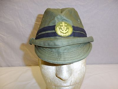 b3558 WWII Japanese Marine Naval Landing Force Cotton Field Cap Officer size 58