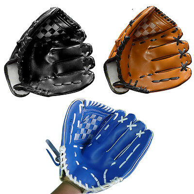 "10.5"" PU Leather Baseball Glove 10 1/2 Soft Ball Catching Gloves 12.5"" Inches 12"