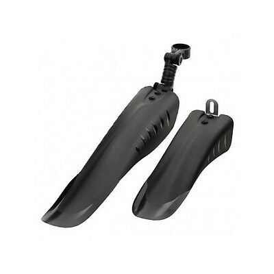 Front Rear Mountain Bike Bicycle Mudguards Black Universal Fit Cycle Mud Guards