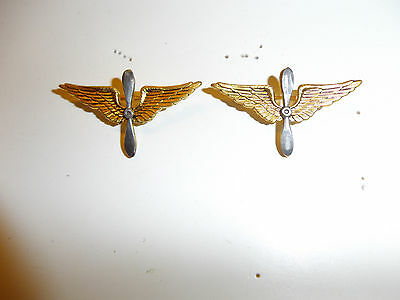 0116p pre WW2 1920s US Army Air Corps Officer's Collar Insignia pair IR30A10