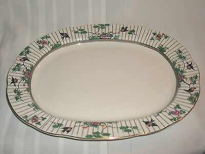 "Vintage Booths Springtime Birds & Flowers  13 1/2"" Serving Platter"