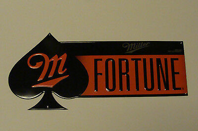 """Miller Fortune 24"""" X 11"""" Embossed Metal Sign New"""