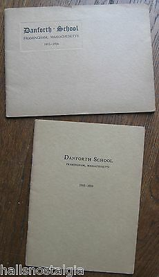 Danforth School Framingham Massachusetts 1915-1916 Booklets Boys Country-Life
