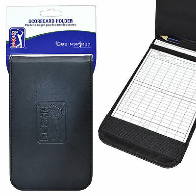 Official PGA TOUR Synthetic Leather Golf Score Card Holder +FREE PGA TOUR DVD