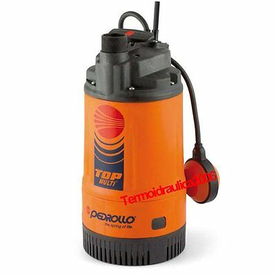 Submersible Multi Impeller Pump clear water TOP MULTI 3 0,75Hp 240V Pedrollo