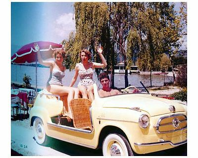 1958 Fiat 600 Jolly Automobile Photo Poster Ghia zuc7229