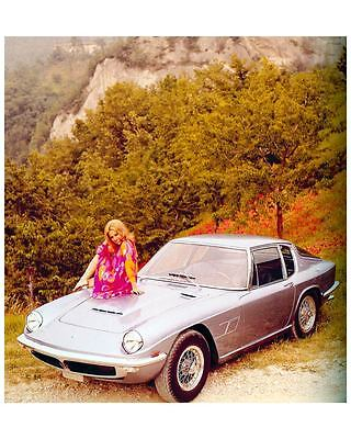 1963 Maserati Mistral Automobile Photo Poster Pietro Frua zuc7245