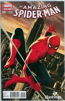 Amazing Spider-Man #1 Hastings Retail Variant 2014 Marvel Spiderman Us Only