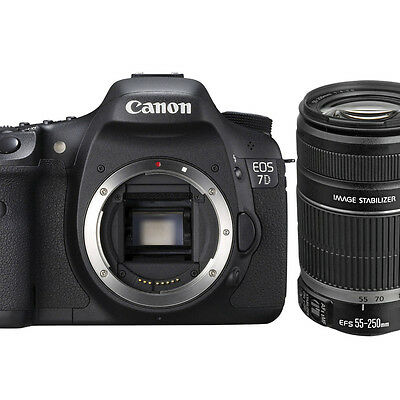 Canon EOS 7D SLR Digital Camera body with Canon EF-S 55-250mm f/4-5.6 IS II Lens