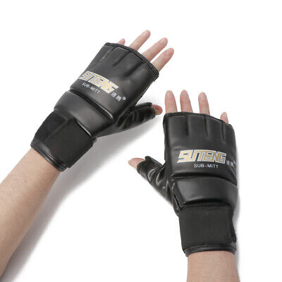 Gym Cool MMA Muay Thai Training Punching Bag Half Mitts Sparring Boxing Gloves