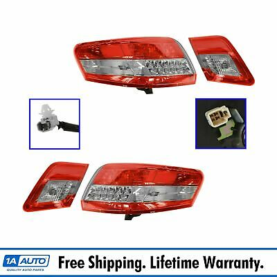 Taillights Taillamps Brake Lights Inner & Outer Kit Set of 4 for Toyota Camry