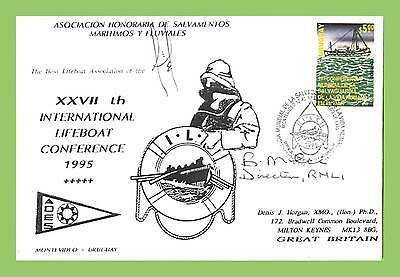 Uruguay 1995 Int. Lifeboat Conference signed commemorative Cover