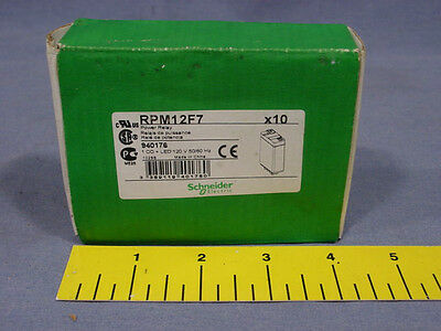 10 Telemecanique RPM12F7 INTERFACE RELAY, SPDT 120VAC 15A PLUG-IN Schneider