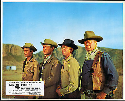 THE SONS OF KATIE ELDER original RARE 1965 lobby card set JOHN WAYNE/DEAN MARTIN