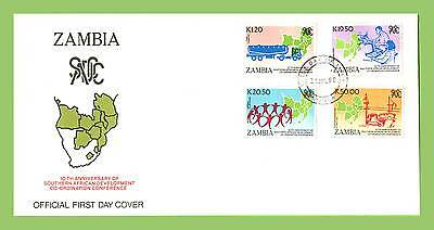 Zambia 1990 10th Anniv of Southern African Development  First Day Cover