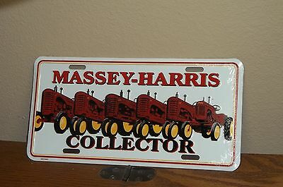 MASSEY HARRIS COLLECTOR TRACTORS -  Metal License Plate, NEW