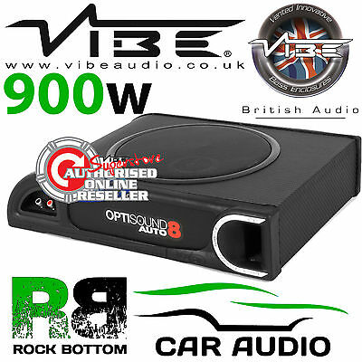 Vibe Optisound Auto 8 Active 900W Amplified Active Underseat Car Sub Bass Box