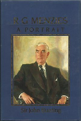 R.G. Menzies a Portrait  John Bunting HBDJ 1988 SIGNED 1st EDITION