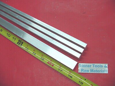 "4 Pieces 3/8"" X 3/4"" ALUMINUM 6061 FLAT BAR 18"" long T6511 Extruded Mill Stock"
