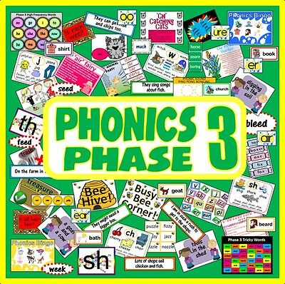 Cd Phonics Phase 3 Teaching Resources  Eyfs Ks1 Reading Letters Sounds