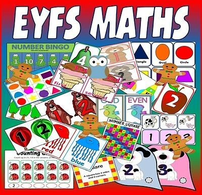 CD BUMPER MATHS TEACHING RESOURCES CD Early Years EYFS SEN Reception numeracy