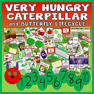 Cd Very Hungry Caterpillar Teaching Resources  Eyfs Ks 1-2 Story Butterfly Cycle