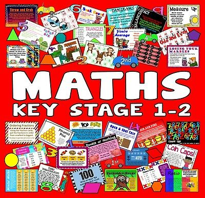 Cd 200 Key Stage 1-2 Maths Activities Games Tasks Worksheets Teaching Resources