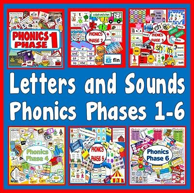 CD *MULTI* 6 PHONICS PHASE 1-6 PACKS TEACHING RESOURCES DISPLAY EYFS KS1
