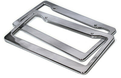 2pc OxGord ABS Chrome HD Plastic License Plate Frame Tag Cover Car SUV Van Truck