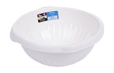 Quality Wham Plastic Large Colander Strainer Kitchen Cooking Utensil in 2 Colour