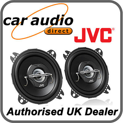 "JVC CS-J420X 10cm 4"" 210W 2-Way Car Stereo Audio Speakers Door Shelf New Pair BN"
